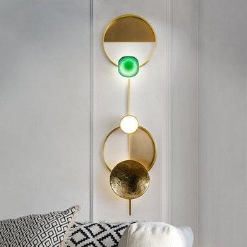 Nordic post-nowoczesne światła luksusowe kinkiet światła ścienne kreatywny projektant mody dekoracji miedzi sypialnia lampki nocne alejek kinkiet