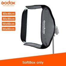 Godox 40x40cm 50x50cm 60x60cm 80x80cm Faltbare SoftBox Speedlite flash Softbox für S typ Halterung fit Bowens Elinchrom Montieren