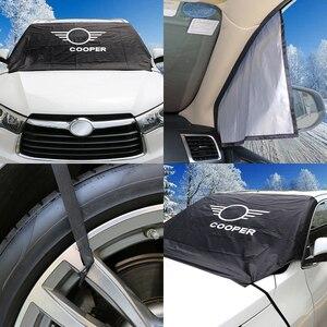 Image 3 - Car Windshield Snow Ice Dust Block Sun Shade Cover For MINI Cooper F57 Cabrio F54 CLUBMAN S R60 Countryman R61 Auto Accessories