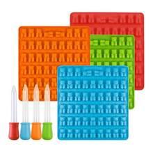 DIY Silikon Kuchen Form Gummibärchen Form Bär Form Gelee Süßigkeiten Ice Trays Formen Mit Dropper Kuchen Werkzeuge Küche Zubehör