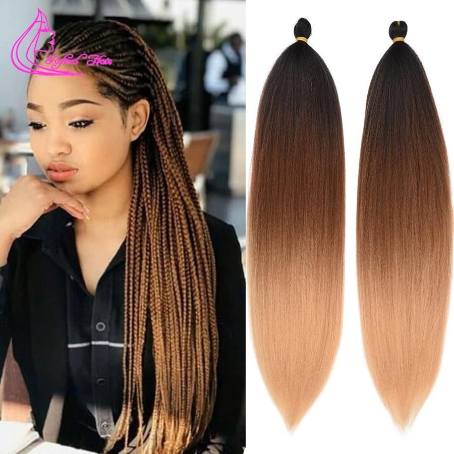 Изысканный легко плетение волос 26 дюймов длинные Джамбо косички яки прямые синтетические эффектом деграде (переход от темного к термостойк...