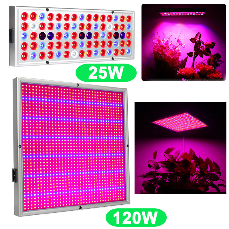 25W 120W Led Grow Light Phyto Lamps For Indoor Plants Tent Greenhouse Seeds Aquarium Garden Horticulture Hydroponics Grow/Bloom(China)