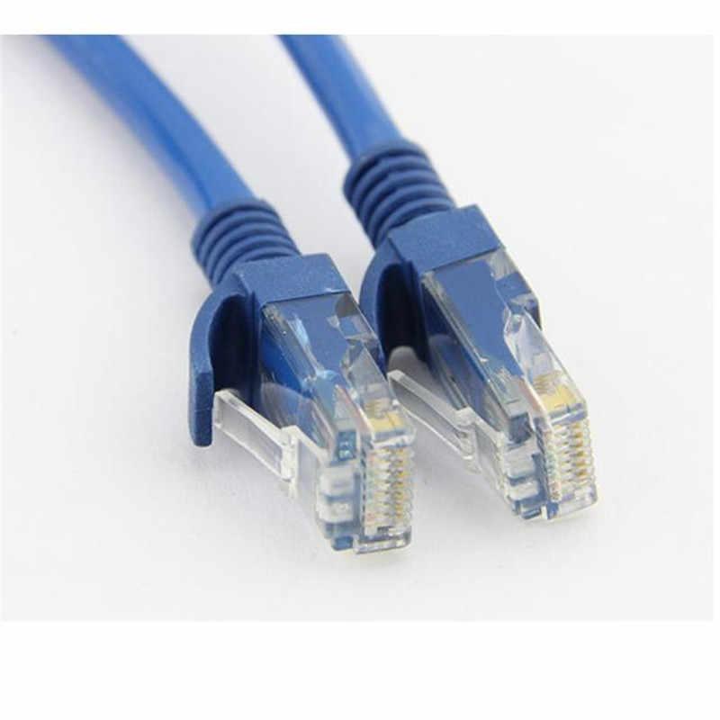 Veri en iyi fiyat 0.7m 1.6m 2.4m 4m 8m mavi Ethernet İnternet LAN CAT5e ağ kablosu bilgisayar için modem yönlendirici