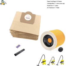 Filter dust bags for Karcher WD3 Premium WD 3.300  WD 3.200 WD3.500  SE4001 WD3 P 6.959 130 6.414 5520 cleaner parts