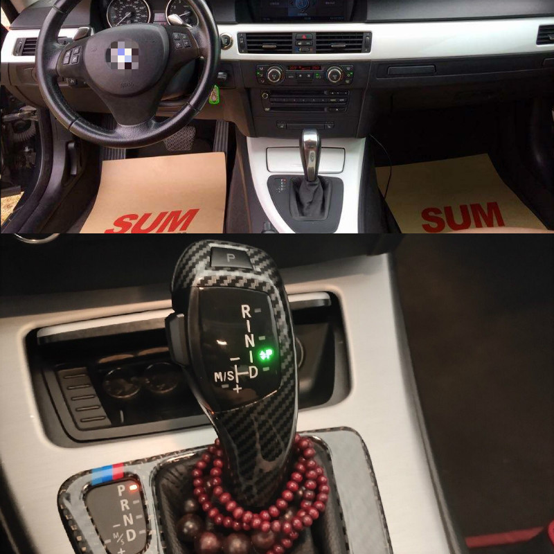 LED Gear Shift Knob Shifter Lever For BMW 1 3 5 6 Series E90 E60 E46 2D 4D E39 E53 E92 E87 E93 E83 X3 E89 Automatic Accessories image