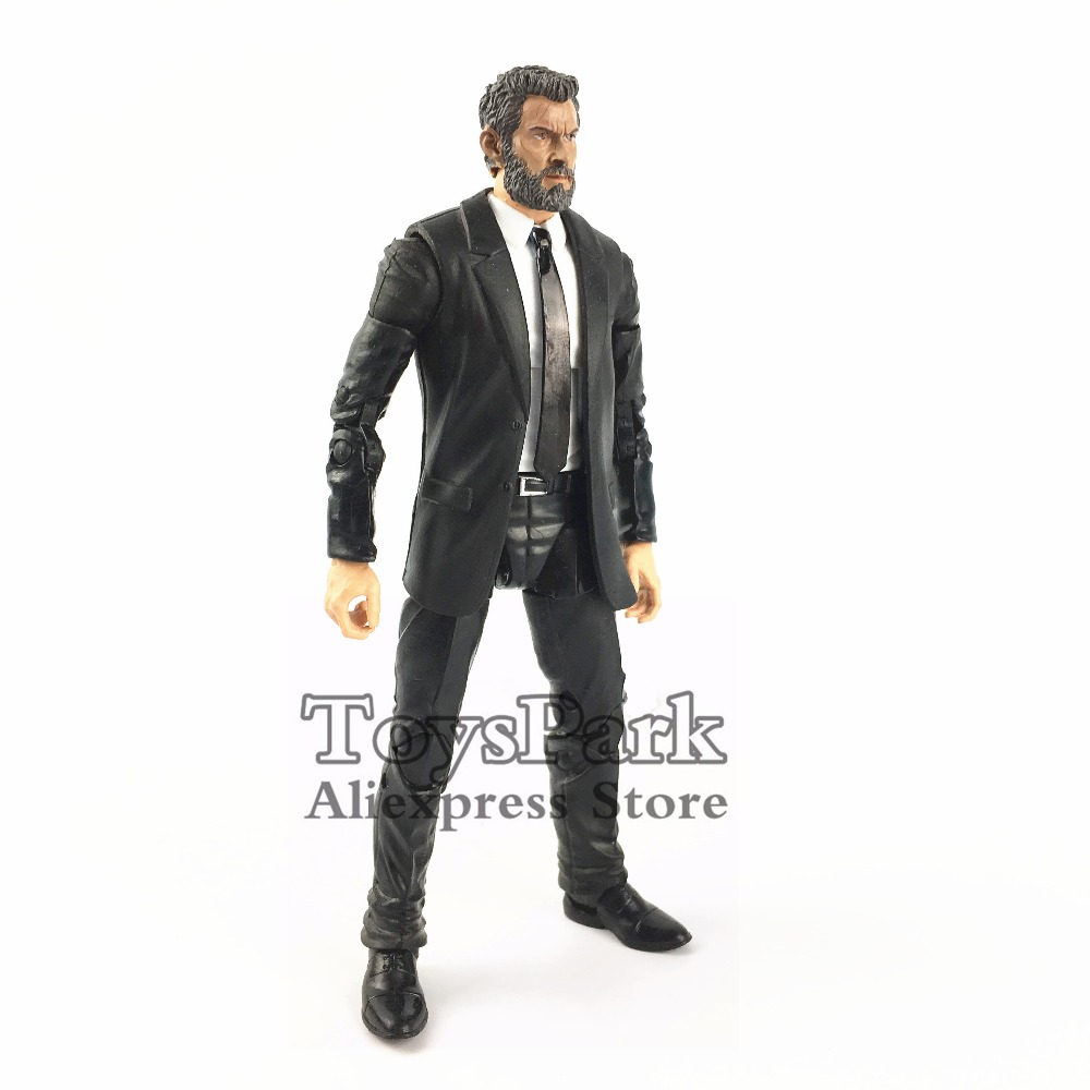"Custom Marvel Legends 6"" Action Figure Old Logan Hugh Jackman X Men Wolverine 1/12 Head & Black Tie Agent Phil Coulson Body Doll"