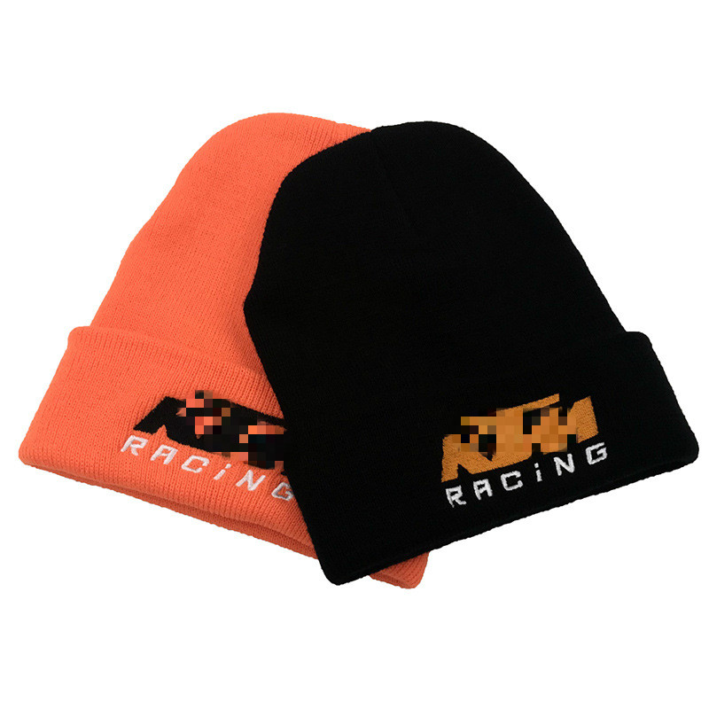 Warm Autumn Hat KTM Car Race Letter Hat Embroidery Solid Casual Beanies Cap Knit Hat Outdoor Riding Autumn Winter Warm Beaniehat