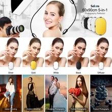 Reflector de luz plegable ovalado 5 en 1 para estudio de fotografía, 60x90cm, 24 x 35, disco portátil para fotografía