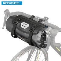 Roswheel 7l saco de guiador da bicicleta náilon tpu completo à prova dlarge água grande saco ciclismo frente pannier cesta pacote destacável 111369
