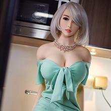 セックス人形 1 # 158 センチメートル #6 高品質巨乳リアルシリコーン男リアルな膣経口猫お尻tpeと金属スケルトンセクシーな美容
