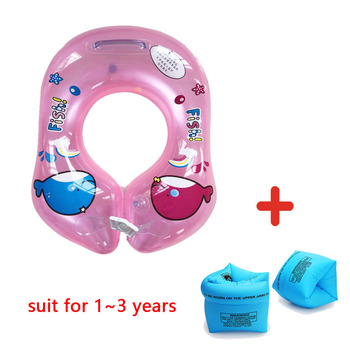 Baby Swimming Ring Inflatable Kids Float Swim Pool Accessories Buoy Double Raft Infant Swim Trainer Safety Circle Floating - GR0022Red