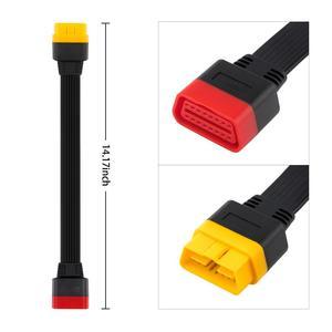 Image 5 - OBDII rallonge câble 16 broches mâle à femelle OBD2 connecteur 16Pin outil de diagnostic ELM327 OBD2 adaptateur étendu 0.36m