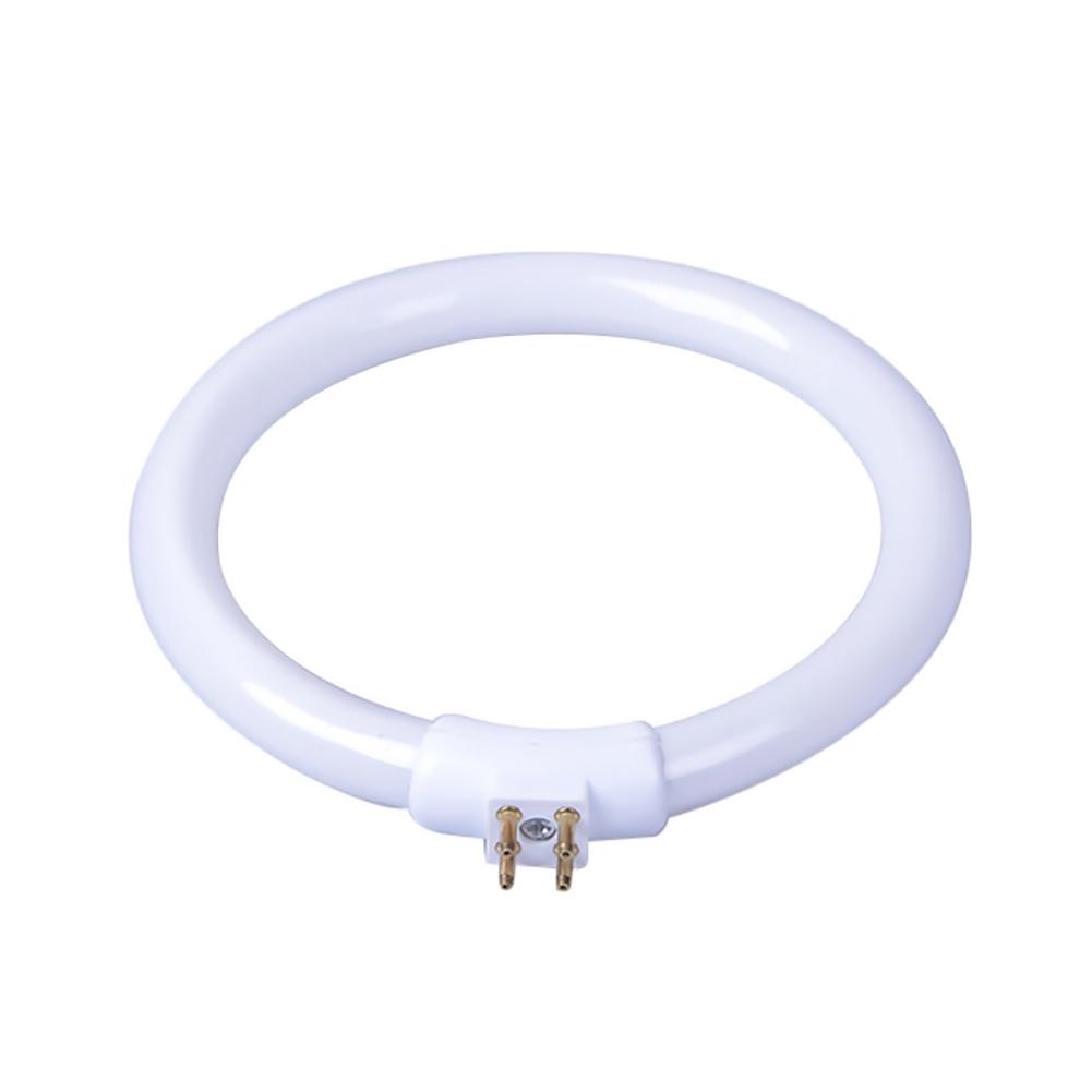 11W T4 Round Tube Ring Lamp Anti-Four-pin Lamps Lamp Fluorescent Ring Lamp Small Desk Lamp Bulb LED White T4 Round Bulb Lamp