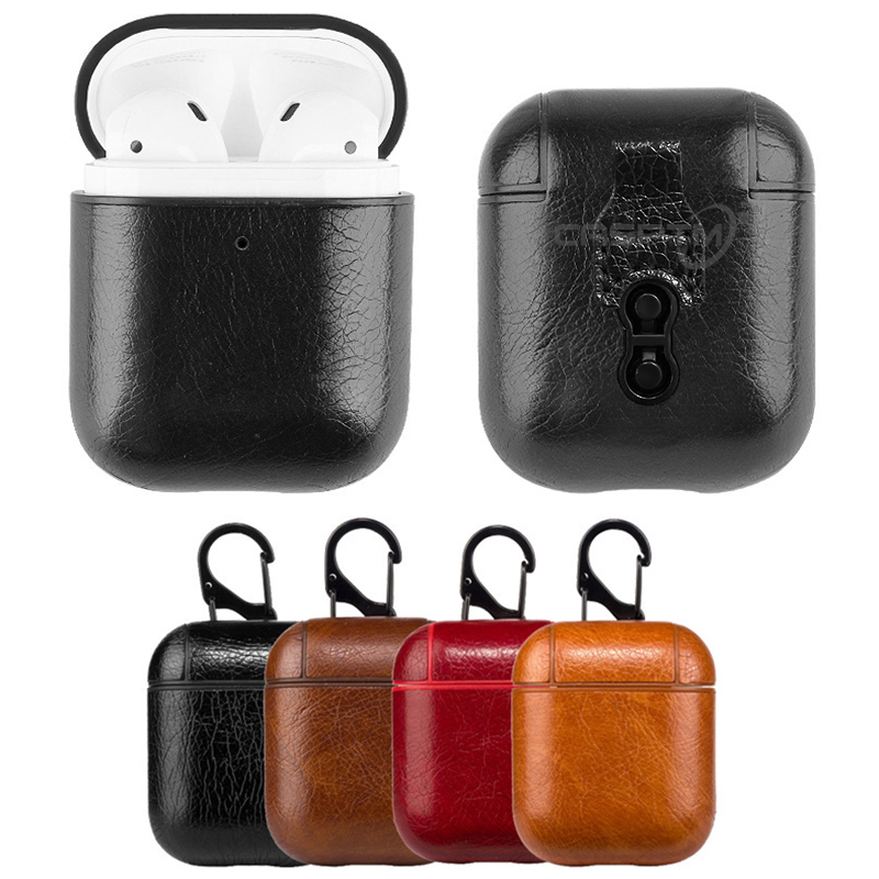 Leather Wireless Bluetooth Earphone Case For Apple Airpods Case For Airpods Accessories Charging Box Case For Air Pods Funda