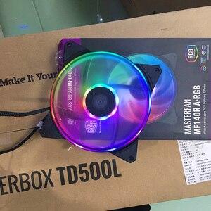 Image 5 - برودة ماستر MF140R ARGB 14 سنتيمتر RGB 5 فولت/3PIN وحدة معالجة خارجية للحاسوب مروحة PWM هادئة الكمبيوتر CPU برودة المبرد مياه التبريد 140 مللي متر يحل محل المشجعين