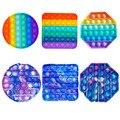 Игрушка-антистресс Push Bubble, игрушка-антистресс с радугой/краской, цветная игрушка-антистресс