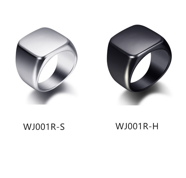 Silver Antique Black Smooth Design Men or Women Ring Fashion Finger Ring  Jewelry WJ001R 2