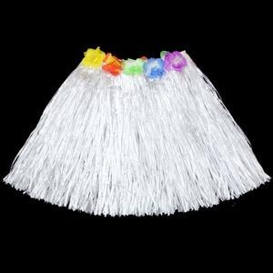 40 см Гавайский стиль костюм Цветочная юбка Гирлянда Венок танец хула костюм набор женщина одеваются Гавайские тропические вечерние принад...