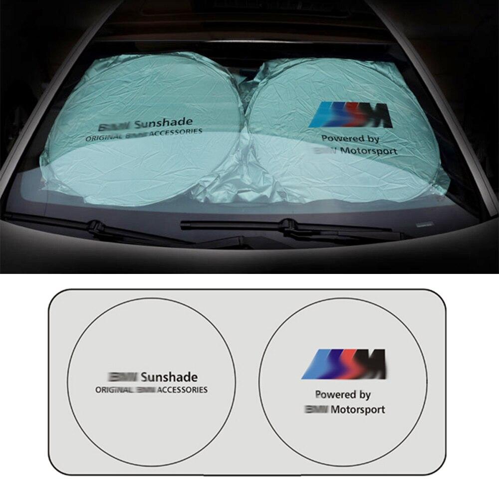 Car Sun Shade Front Windshield Sunshade For BMW X1 X3 E83 E85 E70 E71 E87 E60 E61 E90 F20 F30 F10 F12 F13 F16 E92 E91 M3 M5 G30