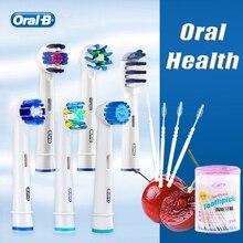 Oral B насадки для зубной щетки для заправки зажигалок отбеливание зубов чистая гигиена полости рта точность насадки для электрическая вращающаяся зубная щетка