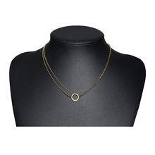 Круглая цепь колье для ключиц двухслойная бисерная цепочка ожерелье