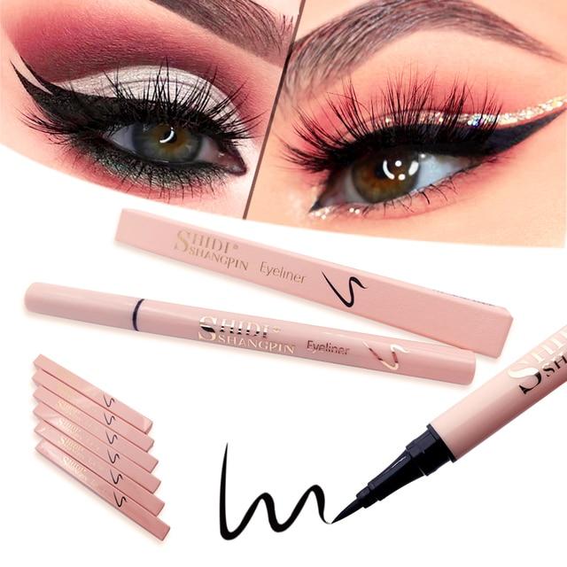 1 Pcs Black Eyeliner Long Lasting Eye Pencil Waterproof Eyeliner Makeup Liquid Cosmetics Drawing Eyeliner Easy to Apply tools 4