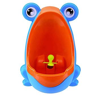 Baby Boy pisuar przyrząd treningowy baby frog Baby toaleta nowy tryb oddawania moczu dla zwierząt nocnik dla dzieci trainingseat toiletkid 20 maja tanie i dobre opinie Z tworzywa sztucznego Training seat 7-9 M 10-12 M 13-18 M 19-24 M 2-3Y 4-6Y Stałe Baby urinal baby potty toilet baby potty training pants