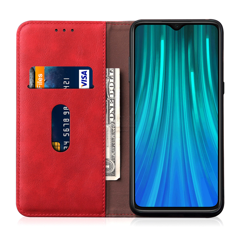 H91d58c98aecc4e87b3df106d11166e46d Luxury Retro Slim Leather Flip Cover For Xiaomi Redmi Note 8 / 8T / 8 Pro Case Wallet Card Stand Magnetic Book Cover Phone Case