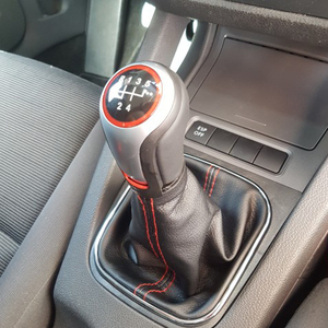 Image 3 - For VW Volkswagen Golf 5/6 MK5/6 Scirocco(2009) octavia Car Gear Shift Knob Lever Pen 5 6 Speed handle ball boot cover Gaitor