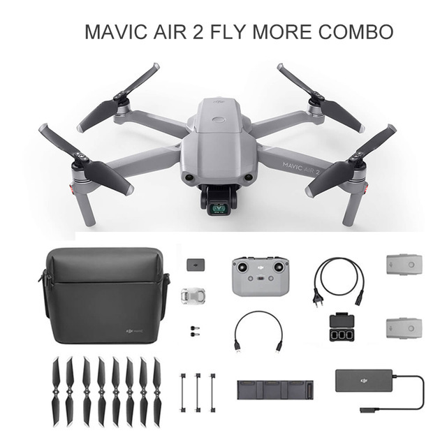 DJI Mavic Air 2 Drone Unisex Color: Fly more combo