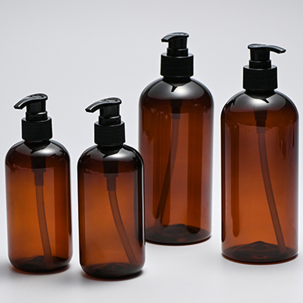 2019 New Large Capacity 250ml / 500ml Amber Shampoo Empty Lotion Container Foam Pressed Pump Bottle For Soap Shower Gel 11.11