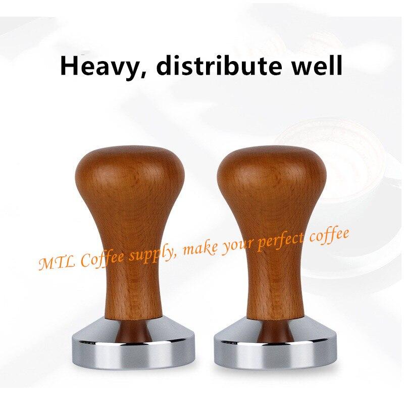 49/51/53/57.5/58Mm Gekalibreerd Druk Sabotage Koffie Poeder Hamer Met 304 Rvs Base Koffie Accessoires