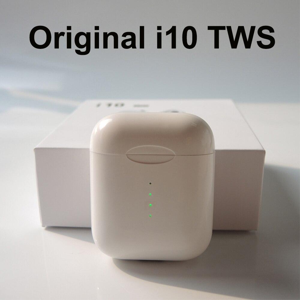 Оригинальный i10 TWS мини беспроводной Bluetooth Сенсорный наушник наушники с зарядной коробкой для Android ios Телефон PK i200 i60 i30 TWS