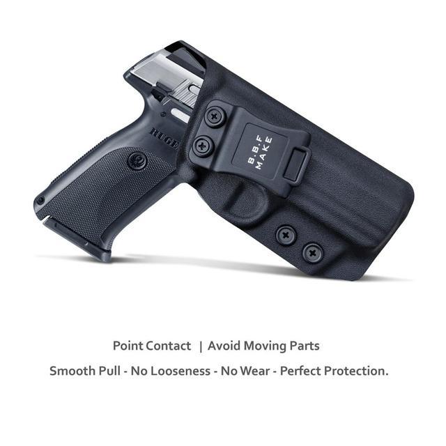 B.B.F Make IWB Kydex Gun Holster for Ruger SR9 / SR9C / SR40 / SR40C Pistol - Inside Waistband Concealed Carry Case 2