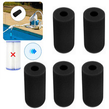 S/M/L Swimming Pool Filter Foam Reusable Washable For Intex S1 Type Pool Filter Sponge Cartridge Suitable Bubble Jetted Pure SPA swimming pool filter water pump filter pump lay in clean spa hot tub s1 washable bio foam 2 4 x uk vi lazy z type filter