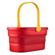 Folding Bucket Silicone Mop Bucket 12L Big Capacity with Handle Collapsible Floor Mop Cleaning Fishing Car Wash Bucket