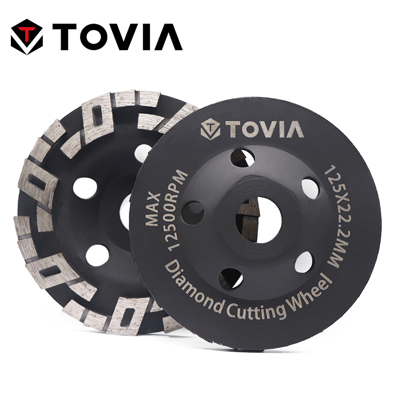 TOVIA 125mm Diamond Grinding Wheel Polishing Stone Grinding Wheels For Angle Grinder Stone Granite Marble Polish Disc