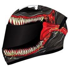 Casco de cara completa para motocicleta, protector de cabeza para motocross y motocross, con motivo de prueba de invierno