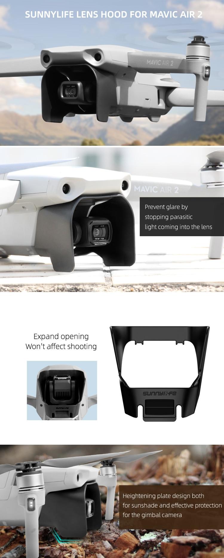 DJI Mavic Air 2 Drone Sunnylife Lens Hood  Sun Shade Hood Mavic Air 2 Accessory