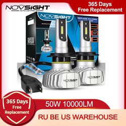 NOVSIGHT Car Headlight H4 Hi/Lo Beam LED H7 H1 H3 H8 H9 H11 H13 9005 9006 9007 50W 10000lm 6500K Auto Headlamp Fog Light Bulbs