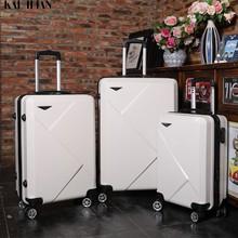20''24/28 inç haddeleme bagaj seyahat bavul tekerlekler üzerinde 20 ''taşımak kabin arabası bagaj çantası ABS + PC bavul moda seti