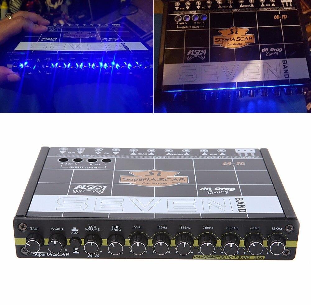 High Quality 1 Set Car Audio 7 Band Equalizer Modified Car EQ Equalizer Class Fever Audio