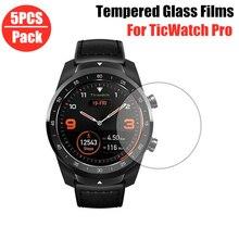 5 adet temperli cam ekran koruyucu için Ticwatch Pro 512M akıllı saat koruyucu Film Tic İzle Pro filmleri koruma kapağı