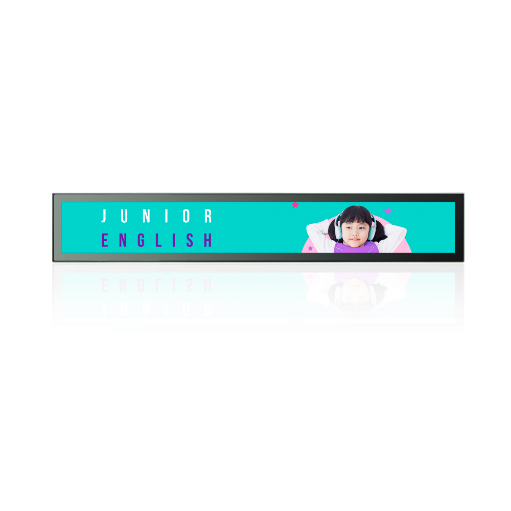 34.9 Inches Stretched Display Bar Long Display Screen For Shelf