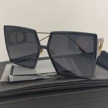 2020 Composit Sunglasses Women Luxury Brand Colored Black Square Sunglasses Women Futuristic Retro Sun Rectangular Sunglasses