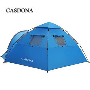 Image 2 - CASDONA תיירות אוהל גדול חלל כפול 3 4 אנשים עשר הידראולי אוטומטי עמיד למים 4 עונה חיצוני חוף פנאי אוהל