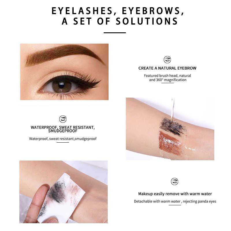 MIXDAIR tusz do rzęs wodoodporny przedłużanie rzęs objętość rzęsy pędzel długotrwały podwójny żel do brwi przybory do makijażu oczu