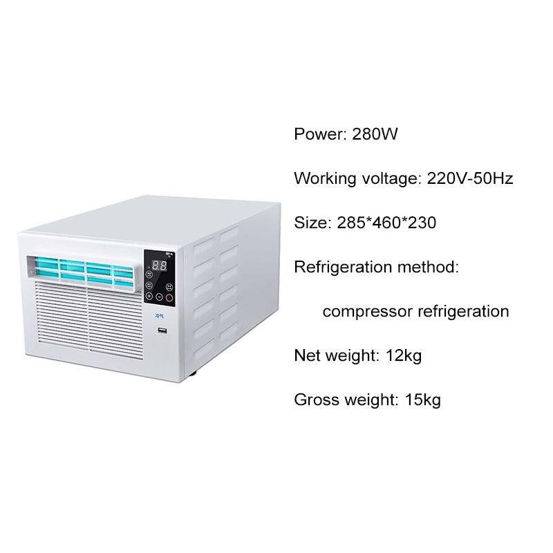 900W Draagbare Desktop Koeling Airco Ventilator Led Bedieningspaneel Airconditioner Bed Kleine Luchtkoeler Voor Kamer 6