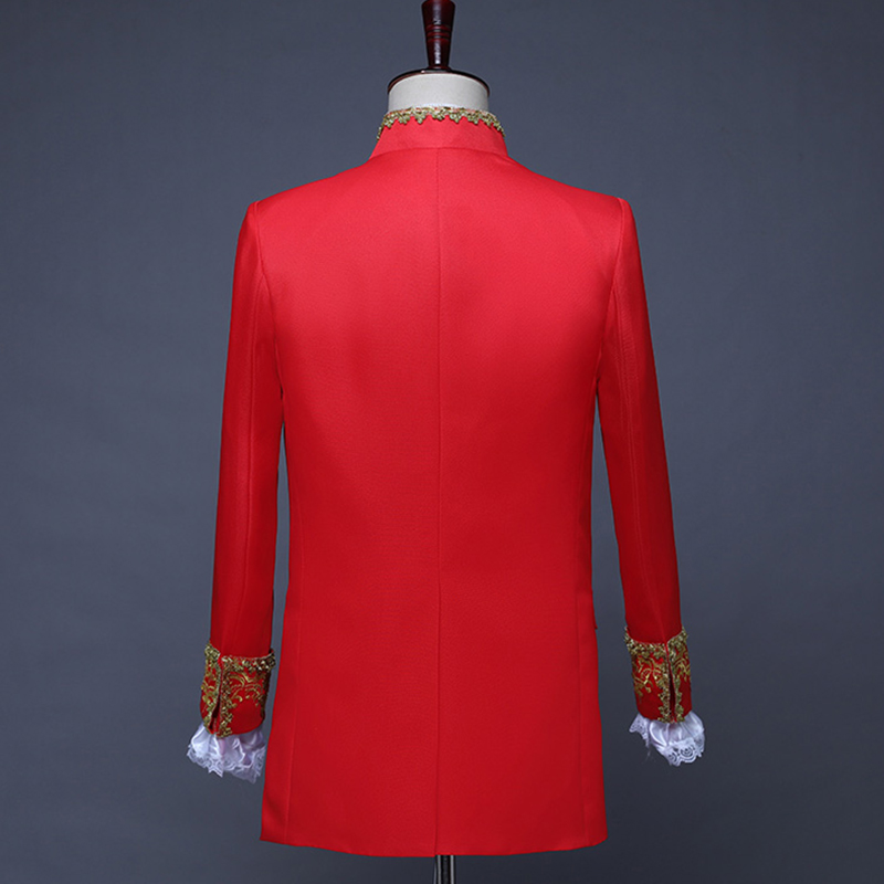 Male Suits England Style Formal Court Dresses Costumes Prom Teams Chorus Stage Costume Wedding Host Men Party Show Outfit DT1376 - 6