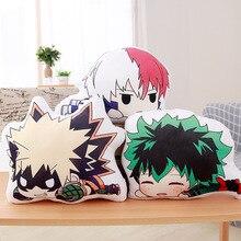 20/35/45CM Cartoon Anime Plush Toys Bakugou Katsuki Todoroki Shoto Midoriya Izuku Bolster Plush Boku No Hero Academia Pillow